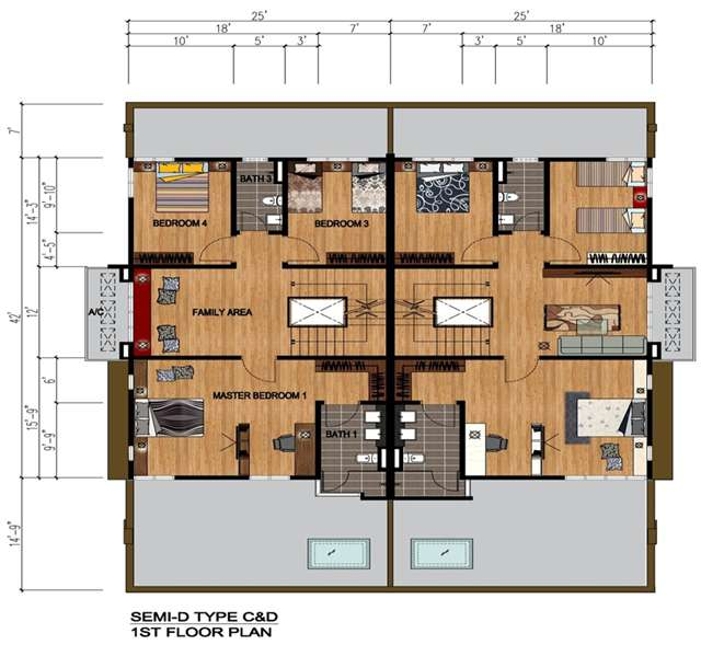 Plan Rumah Semi D http://www.iproperty.com.my/developments/1744/Taman_Tropika_2-Semi_D