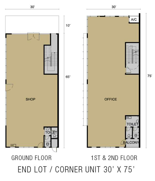 End Lot Floor Plan