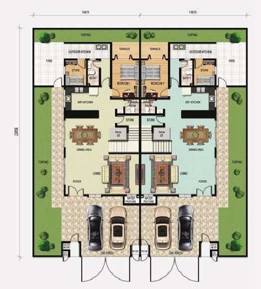 Twin Villa Plans Designs Images