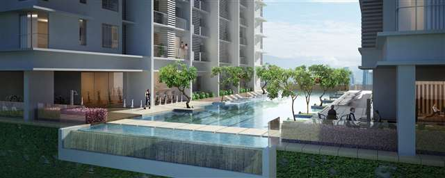 Artist impression of Infinity pool edge