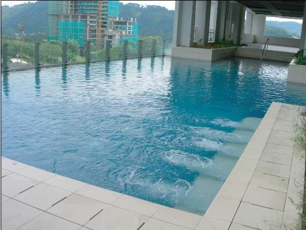 Glass-Edged Swimming Pool