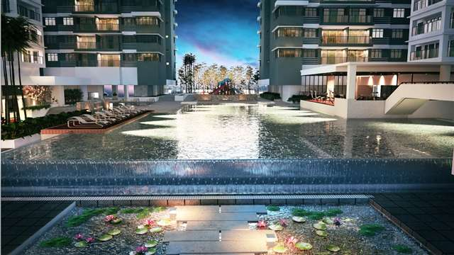 The Style of the Infinity Regal Pool - Night Scene