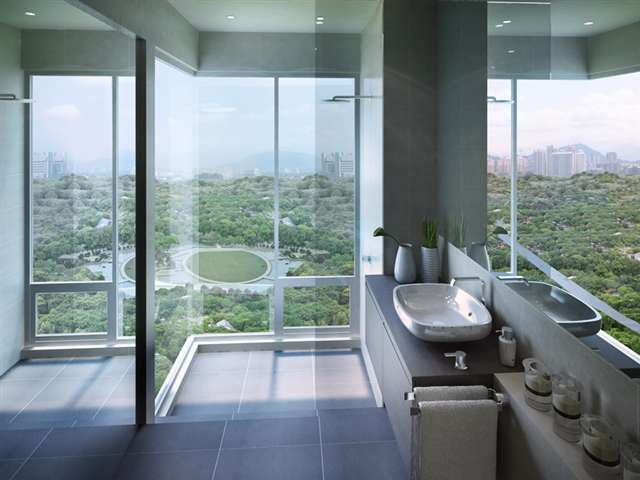 Sunken Bathroom View