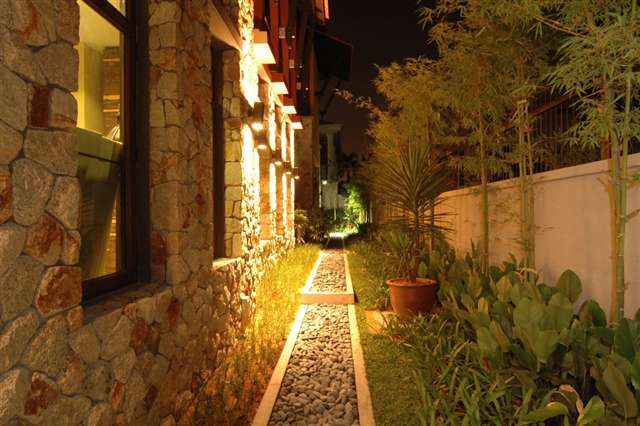 Lavish Garden @ night