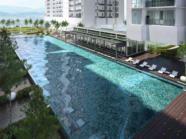 Standing Balcony View Swimming Pool