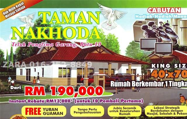 SINGLE STOREY SEMI DETACHED TAMAN NAKHODA