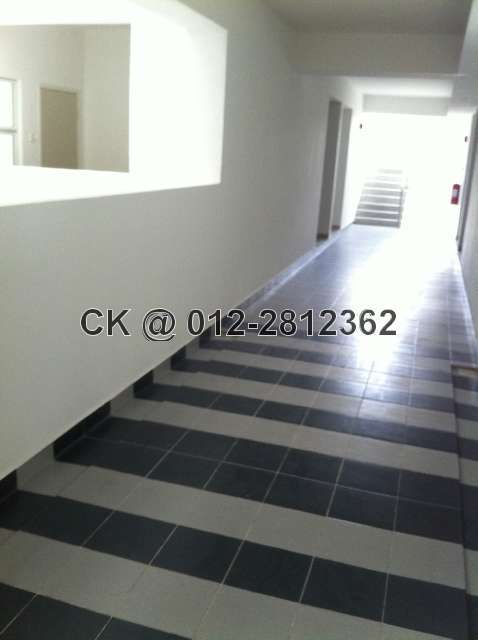 Wide Corridor with floor tiles