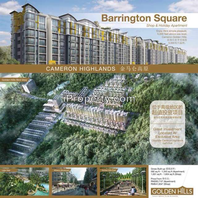 Apartment For Sale In Barrington Square, Cameron Highlands
