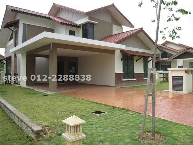 Bungalow house for sale in setia eco park for rm 2 300 000 for Car porch designs for houses