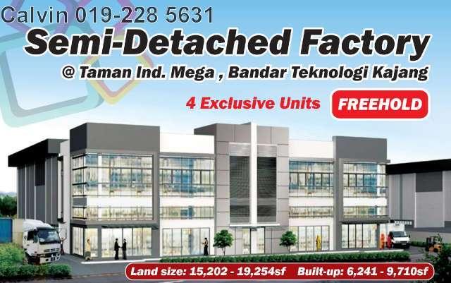 Tmn Ind Mega @ Bdr Teknologi Kajang, Semenyih, 43500, Selangor