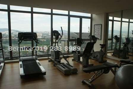 Fully equipped gymnasium