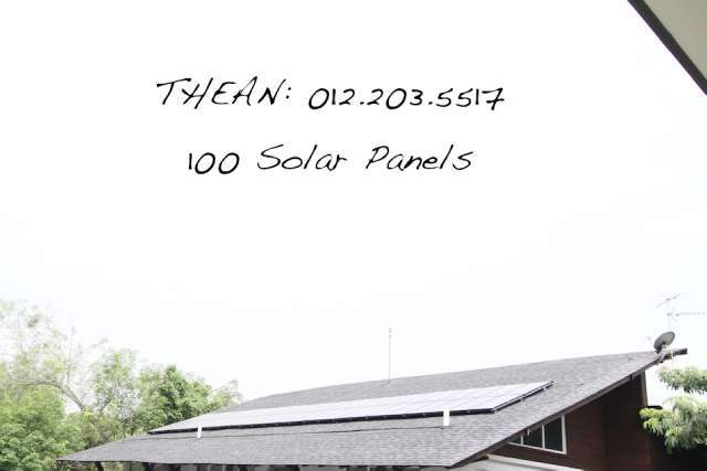 Solar panels to earn money from TNB..